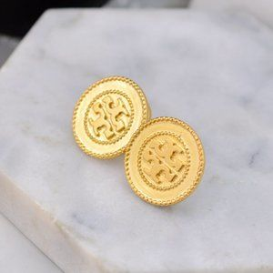 Tory Burch Vintage Enamel Glaze Logo Earrings